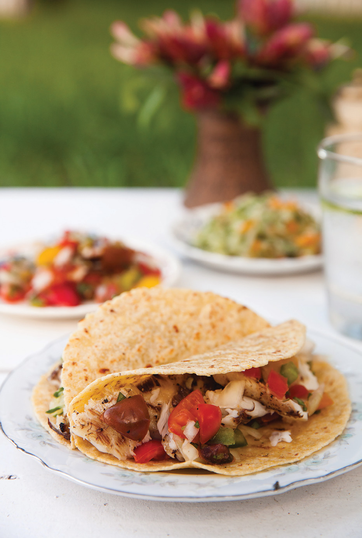 Grilled fish taco recipe eastside magazine for Grilled fish taco recipe